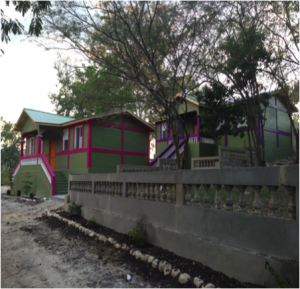 Five new buildings were built for the girls of the Dos Palais Girls' home.