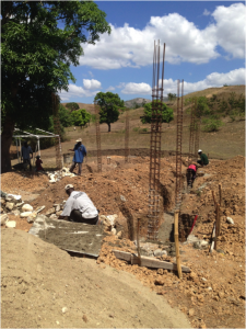Laying a foundation for the school… laying a more solid foundation for the children.
