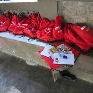 Backpacks provided by Nissan – supplies provided by MPCF and JDFF